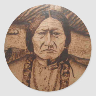 bk wb (10).PNG Wood burning art on product Classic Round Sticker