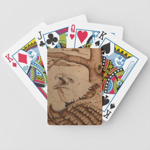 bk wb (1).PNG Eagle Wood Burning Bicycle Playing Cards