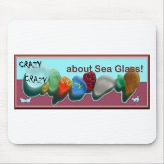 Bkgrnd azul-fuschia del sello de Rare_sea_glass_co Mousepad
