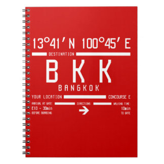 BKK - Bangkok International IATA code Spiral Notebook