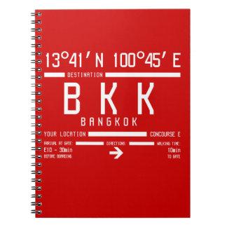 BKK - Bangkok International IATA code Spiral Notebook