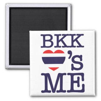 BKK LOVE'S ME 2 INCH SQUARE MAGNET
