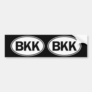 BKK Oval ID Bumper Sticker