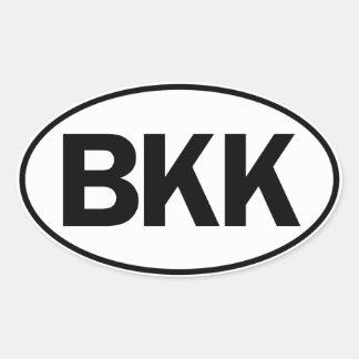 BKK Oval ID Oval Sticker