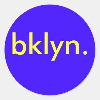 bklyn basic sticker blue/yellow *20 count