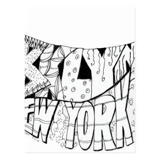 BKLYN NYC un logotipo de la bandera Postal