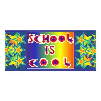 BKMK1.1 SCHOOL IS COOL.STARS FULL COLOR RACK CARD