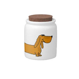 BL- Funny Dachshund Cartoon Candy Jar