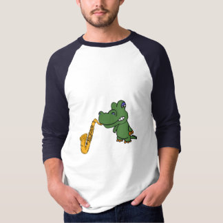 BL- Funny Gator and Saxophone Shirt