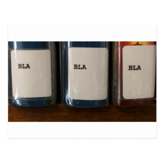 """Bla, Bla, Bla"" - Library Call Numbers Postcard"