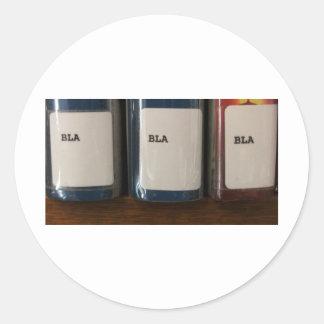 """Bla, Bla, Bla"" - Library Call Numbers Classic Round Sticker"