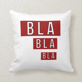 Bla Bla Bla Red Throw Pillow