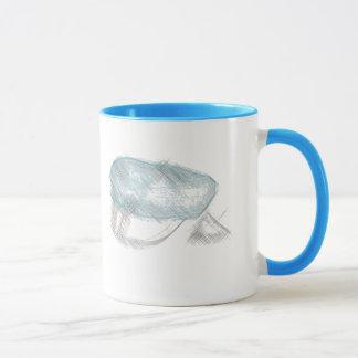blå russ lue kaffi kopp mug
