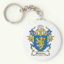 Blaauw Family Crest Keychain