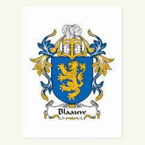 Blaauw Family Crest Postcard