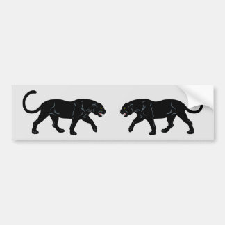 blach panther bumper sticker