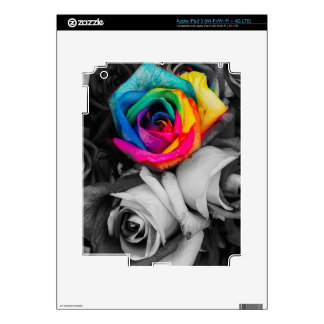 blach,white splash roses (BW) Decal For iPad 3
