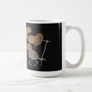 Black 10 Piece Drum Kit - Coffee Mug