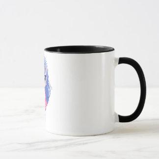 Black 11 oz Ringer Mug Anime love Art Print