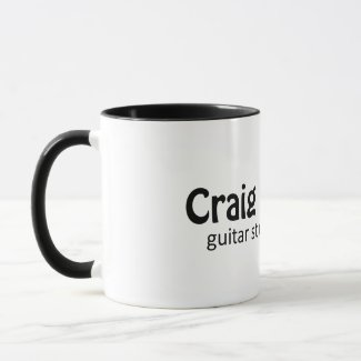 Black 11 oz Ringer Mug | Craig Beck Guitar Studio