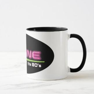 Black 11 oz Ringer Mug MAINE STUCK IN THE 80'S