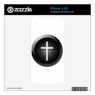 black-121-cross skin for the iPhone 4