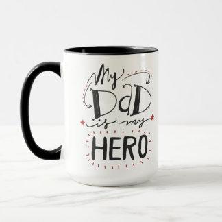 Black 15 oz Combo Mug - My Dad is my Hero