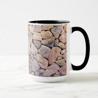 Black 15 oz Ringer Mug In Natural Design