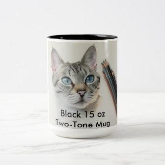 Black 15 oz Two-Tone Mug