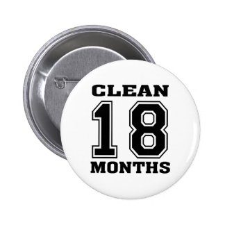 Black 18 Months Pinback Button
