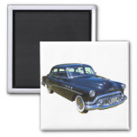 Black 1951 Buick Eight Antique Car 2 Inch Square Magnet