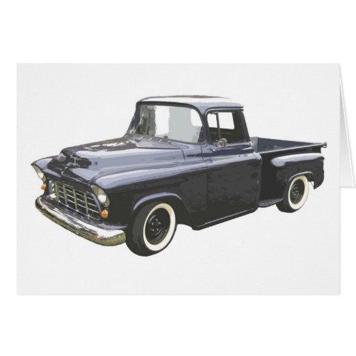 Black 1956 Chevrolet Pickup Card