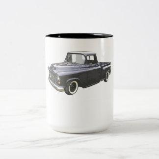 Black 1956 Chevrolet Pickup Two-Tone Coffee Mug