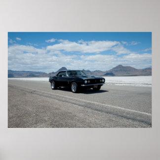 Black 1967 Camaro Bonneville Salt Flats Poster