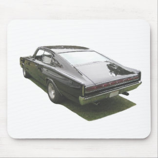 Black 1967 Dodge Charger mousepad. Mouse Pad