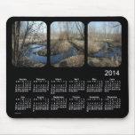 Black 2014 Landscape Calendar Mouse Pad