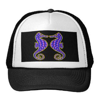 Black 2 Seahorses Trucker Hat