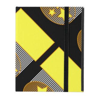 Black 3 yellow stars black background i pad case