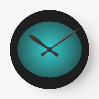 Black 3D Design Turquoise Ball Clock