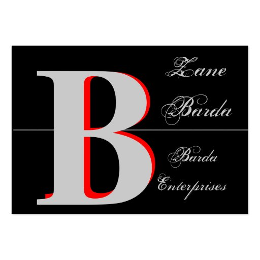 Black 3d monogram generic 2 business card template zazzle for 3d business card template