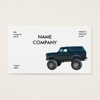 black 4x4 business card