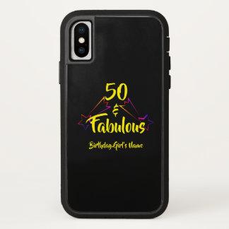 Black 50 & Fabulous - iPhone X Case