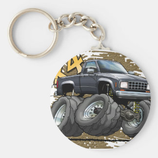 Black 83-88 Ranger Basic Round Button Keychain
