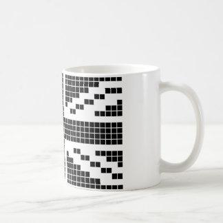 Black 8-bit Pixels Union Jack British(UK) Flag Classic White Coffee Mug