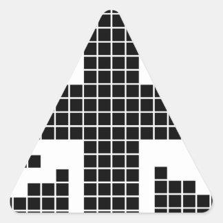 Black 8-bit Pixels Union Jack British(UK) Flag Sticker