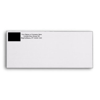 black 8 x 11 design your own product envelope