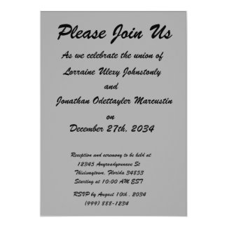 black 8 x 11 design your own product 5x7 paper invitation card