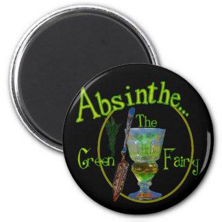 Black Absinthe Green Fairy II Magnet