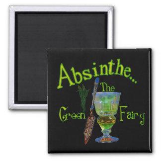 Black Absinthe Green Fairy Magnet