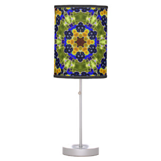 Black abstract colorburst accent table lamp